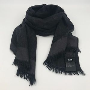 Hugo Boss wool/silk black scarf